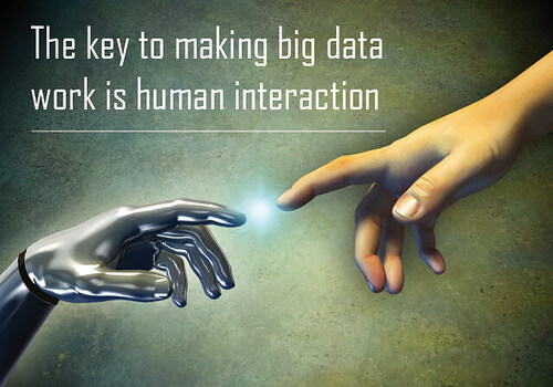 The key to making big data work is human interation
