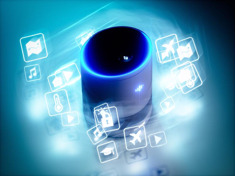 Artificial Intelligence software with links to all its potential capabilities, such as transport, transactions and communication