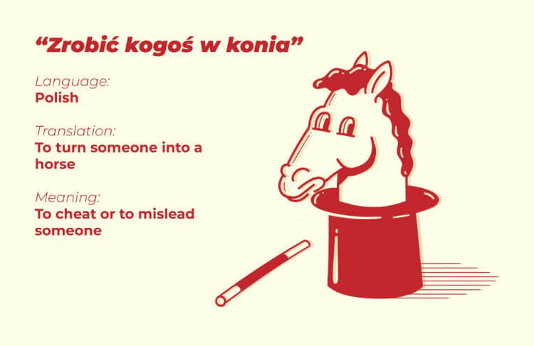 To cheat or to mislead someone - Polish