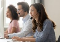Call center with telesales advisors